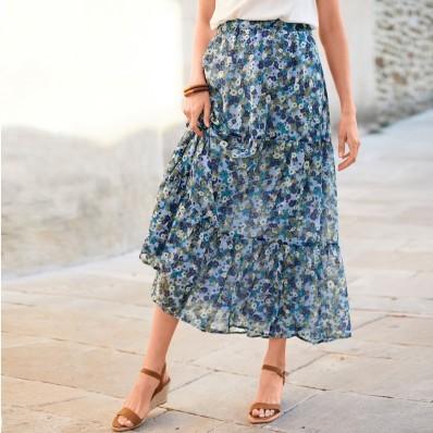 Dlouhá sukně s potiskem
