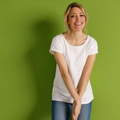Tričko s krátkymi rukávmi, biele, eco-friendly