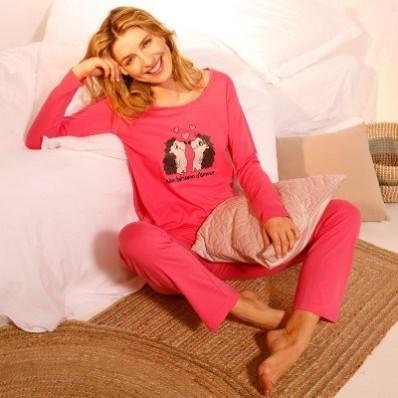 Pyžamo s kalhotami a potiskem ježků