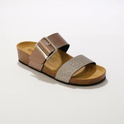 Papuče s tvarovanou stielkou
