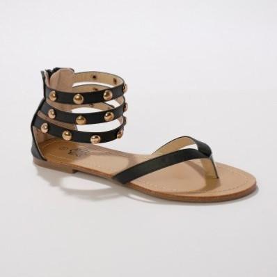 Žabková sandále, čierne