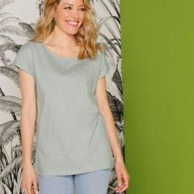Tričko s krátkymi rukávmi, khaki, eco-friendly