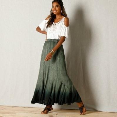 Sukňa s batikovým vzorom