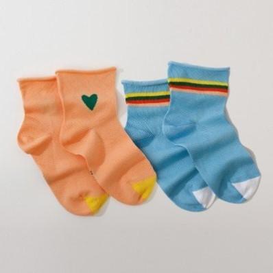 Súprava 2 párov pestrofarebných ponožiek