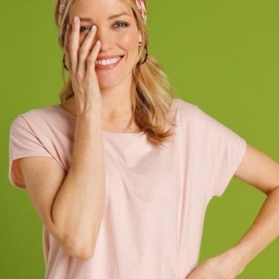 Tričko s krátkymi rukávmi, púdrovo ružové, eco-friendly
