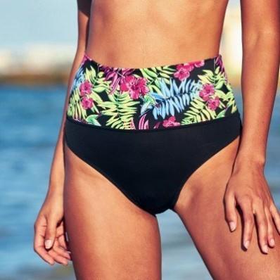 Plavkové slipové tvarující kalhotky, s potiskem