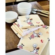6 utěrek na nádobí Šéfkuchař