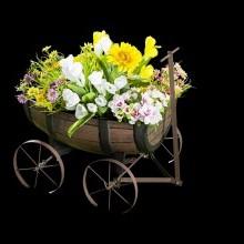 Vozík na květiny