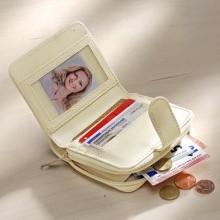 Patchworková peňaženka, biela-prírodná