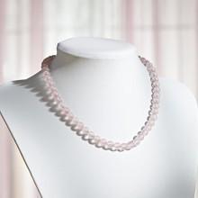 Naszyjnik z różowego kwarcu