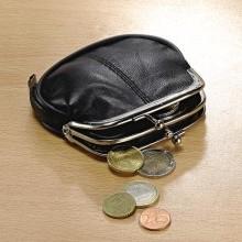 Kožená peněženka, černá