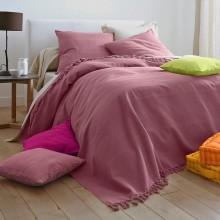 Pléd nebo přehoz z jednobarevné tkaniny