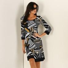 Šaty s grafickým vzorem