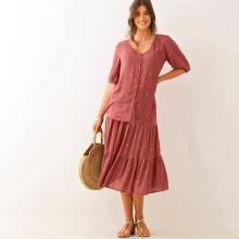 Krátka sukňa so zlatou potlačou
