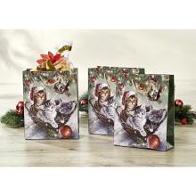 """3 darčekové tašky """"Vianočné mačiatka"""""""