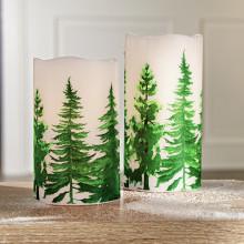 """LED svíčka """"Zimní les"""""""