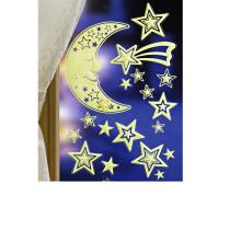 """18dílná sada """"Světélkující hvězdy a měsíc"""""""