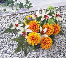 """Kytice na hrob """"Jiřiny a orchideje"""""""