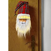 LED hrajúca hlava Santa Clausa