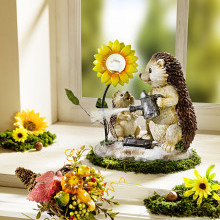 Ježek se solární květinou
