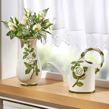 "Váza ""Biele ruže"""