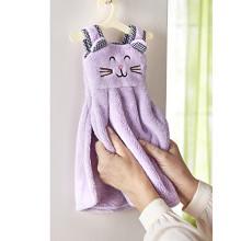 Ručník s držákem Kočka