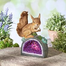 """Solárne svetlo """"Veverička na kryštáli"""""""