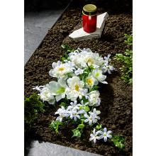 """Kytice na hrob """"Bílé květy"""""""