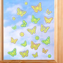 "Obraz na okno ""Motýle"", samosvietiace"