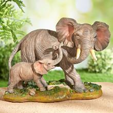 """Dekorácia """"Slonica so sloníkom"""""""