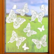 """10dílný obraz na okno """"Motýli"""""""
