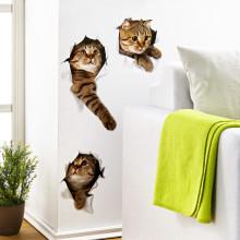 3 naklejki ścienne Koty