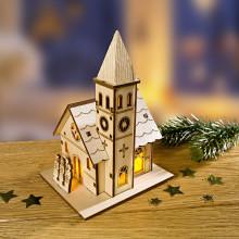 "LED dekorácia ""Vidiecky kostol"""