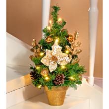 LED vianočný stromček, zlatistá