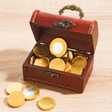 Pokladnice s čokoládovými mincemi