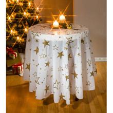Vánoční ubrus, bílá Prům. 160 cm