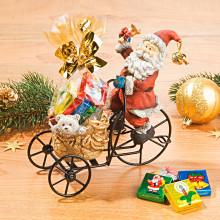 Santa na trojkolke s ľadovými tabuľkami