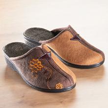"Pantofle ""Gina"", černá/šedá"