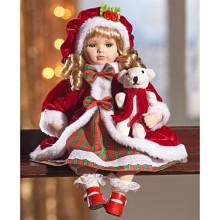 """Porcelánová panenka """"Marie"""" s medvídkem"""