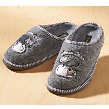 "Pantofle ""Jiřina"", šedá"