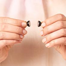 """2 magnetické uzávěry """"Perla"""", černá"""