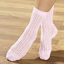 4 páry háčkovaných ponožek