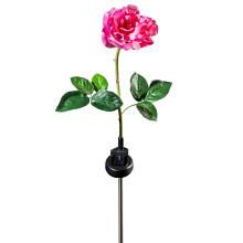 """Solárne svetlo """"Ruža"""", ružová-biela"""