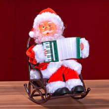 Santa Claus s tahací harmonikou