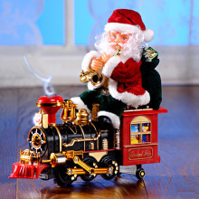 "Dekorácia ""Santa Claus na lokomotíve"""