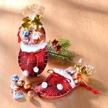 1 vianočná papuča s cukrovinkami