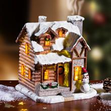 LED vianočný domček