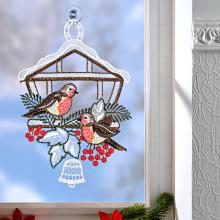 """Okenní dekorace """"Ptačí budka"""""""
