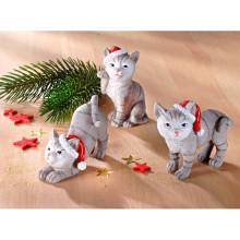 3 vianočné mačiatka