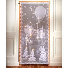 """LED záclona do dveří """"Zimní vesnice"""""""